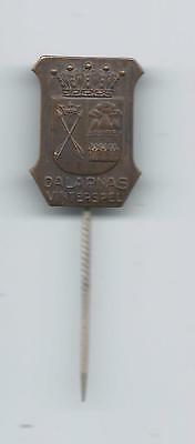 Winter Games Dalarna Province Sweden Crossed Arrows Pin Dalecarlia Westins