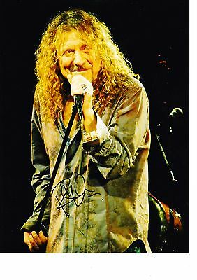 """Genuine Robert Plant Hand Signed Autograph 12X8"""" Photo With Coa"""
