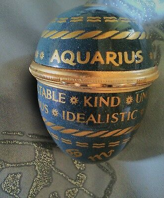 Halcyon Days Aquarius  Enamel Egg No Box Or Stand