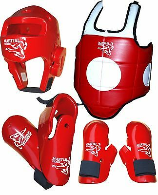 4 PCS TAEKWONDO SPARRING KIT GEAR SUITABLE FOR TEENAGER OR SMALL ADULT size