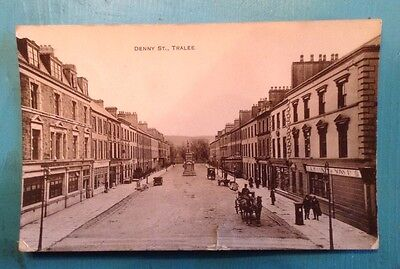 Antique Irish RP postcard, Denny street, Tralee. County Kerry. Postmarked 1917.