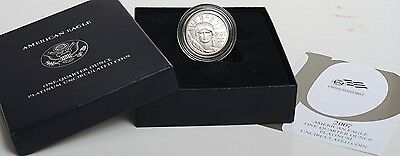 2007-W $25 1/4oz American Eagle Platinum Burnished/Uncirculated w/OGP+COA (T7C)