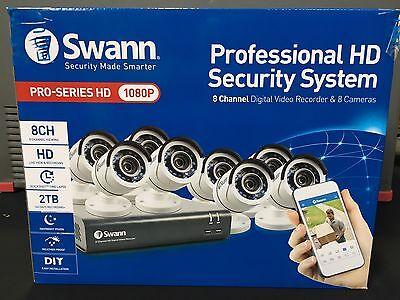 Swann DVR8-4550 8 Channel 1080p HD DVR & 8 x PRO-T853 Security System Brand New