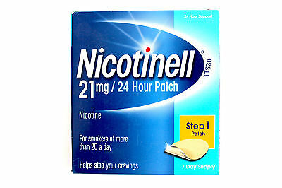 Nicotinell Step 1 21mg Patch - 7 Day Supply - 24 Hour Support (01/2017)