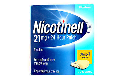 Nicotinell Step 1 21mg Patch - 7 Day Supply - 24 Hour Support (10/2016)