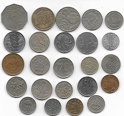 World x 24 Mixed  Coins all Differant