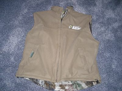 Scentblocker Bone Collector xl  Reversible Vest Casual Brown or Fleece Camo
