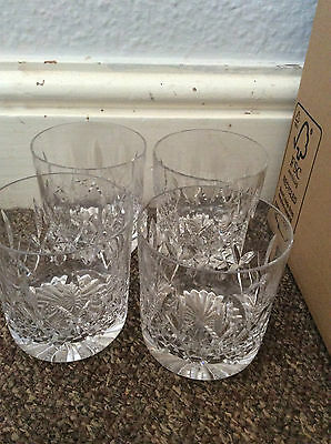4 crystal cut glass tumblers possibly Stuart