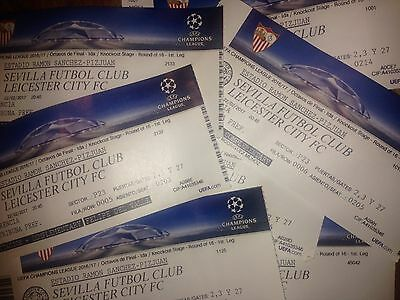 2017 SEVILLA v LEICESTER CITY CHAMPIONS LEAGUE USED TICKET