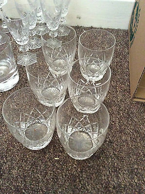 6 cut glass tumblers possibly stuart