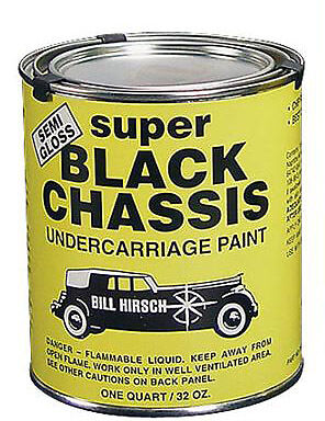 Bill Hirsch Super Chassis Black Chip Peel & Crack Proof Coating Paint
