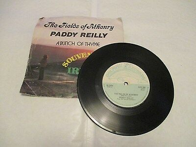 """Paddy Reilly """"The Fields Of Athenry"""" Picture Sleeve  7"""" Vinyl"""