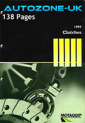 Motaquip Clutches Catalogue 1999 Clutch Kits/plates/bearings Dimensions X/ref
