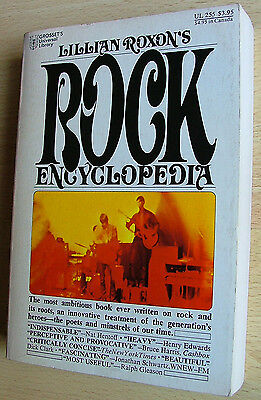 Lillian Roxon's Rock Encyclopedia - orig. edition from 1974 very nice condition