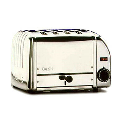 Cadco CTS-4(220) Stainless Steel Pop-Up Toaster - 220V