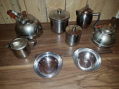 Bundle Of Kitchen Items Stainless Steel Coffee Tea Pots Bowls Etc Joblot 99P
