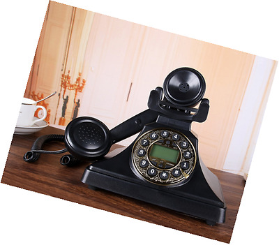 Classic Style Button Dial Corded Phone, Bnest Retro Vintage Antique Style Push B
