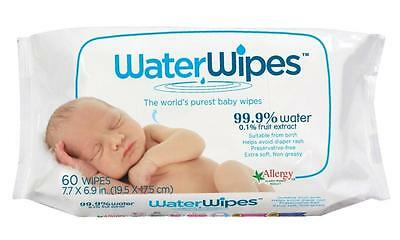 """Water Wipes - """"Worlds Purest Baby Wipes"""" 60s (Pack of 12)"""