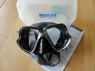 Mares - X-Vision Scuba Diving / Snorkelling Mask - Black - with Mares air tube