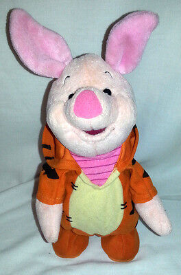 """Winnie The Pooh Talking Bounceing Piglet In A Tigger Suit 10""""  Mattel"""