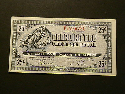 Old Canadian Tire, 25 Cents Coupon, EF/AU #3597