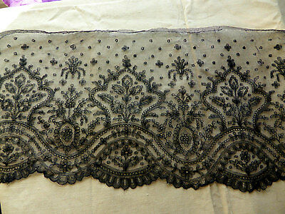 Wide Antique 1800s/1900s French Chantilly Lace Authentic Napoleon III era