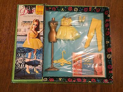 NRFB #8110 Yellow Sheer Delight Outfit Vintage Dawn Doll Floral Box