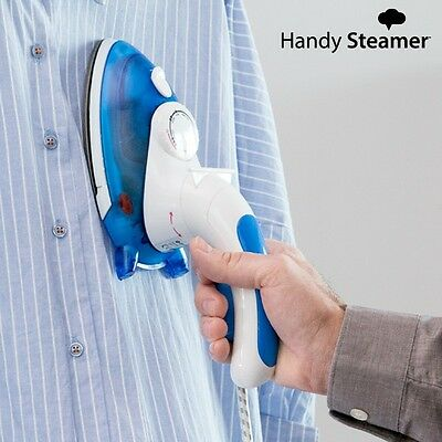Handy Steamer Compact Mini Steam Home Travel Iron & Clothes Steamer With Brush