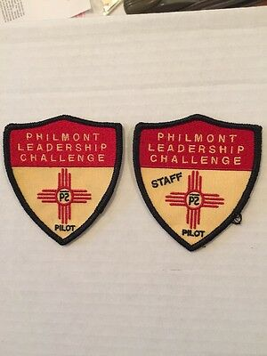 Philmont Leadership Challenge Pilot Course Delegate And Staff Patches - One Year