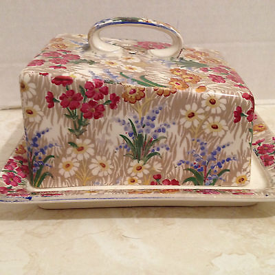 Royal Winton Grimwades Chintz MARGUERITE Butter Dish Cheese Dish with Lid