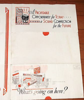 Vtg Delco Battery Franchise Opportunity to Service Stations Advertising Poster