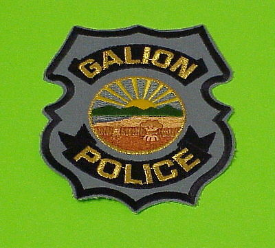Galion  Ohio  Oh  Type #2   Police Patch   Free Shipping!!!