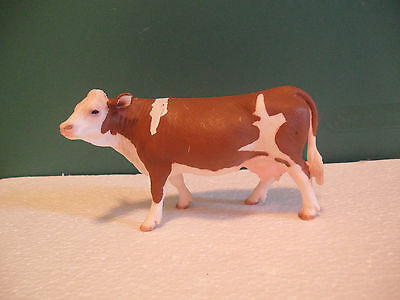 Schleich Heifer Spotted Brown and White Cow Figure USED