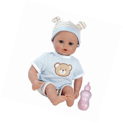 """Adora PlayTime Baby Beary Blue Vinyl 13"""" Boy Weighted Washable Play Doll Gift Se"""