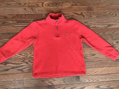 Polo Ralph Lauren CLASSIC SOLID sweater 1/4 Zip Pullover Youth boys size 8 Red