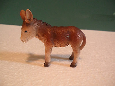 Schleich Brown and White Donkey Foal Figure USED