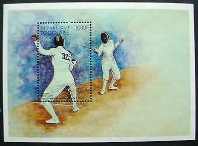 Togolaise: Olympic Fencing 1000F M/s: Mnh