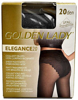 Ladies Golden Lady Elegance 20 Den Lycra Embroided Body Hoisery Tights