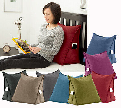 Orthopaedic Back Support Bed Wedge Pillow Bean Bag Cushion With Side Pockets