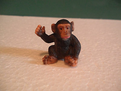 Schleich Black and Brown Monkey Infant Figure USED