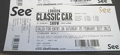 The Classic Car Show 2 x tickets for sale possible for 4