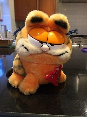 "GARFIELD * Small Vintrage 1981 Dakin Soft Toy 6"" (15cm) With Tag"