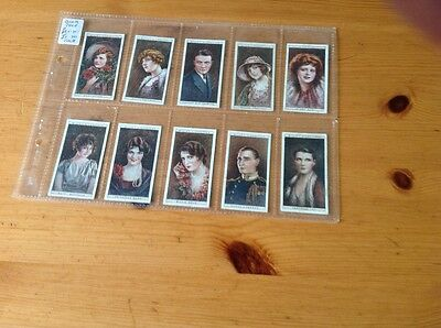 cigarette cards. Wills.Cinema stars 2nd series.Full set good condition.