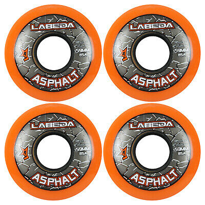 LABEDA WHEELS Inline Roller Hockey GRIPPER ASPHALT OUTDOOR ORANGE 59mm 85A x4