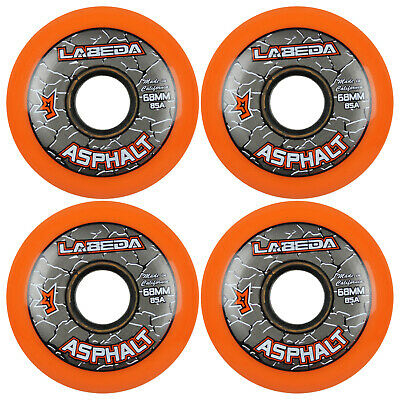 LABEDA WHEELS Inline Roller Hockey GRIPPER ASPHALT OUTDOOR ORANGE 68mm 85A x4