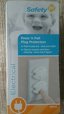 New Safety 1st First Electrical Press And Pull Plug Protectors 30 outlet covers