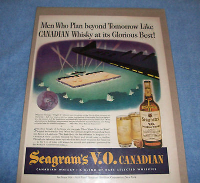 Vintage Magazine Ad For Seagram's V.O. Candadian  Whiskey - Great Wall Hanger