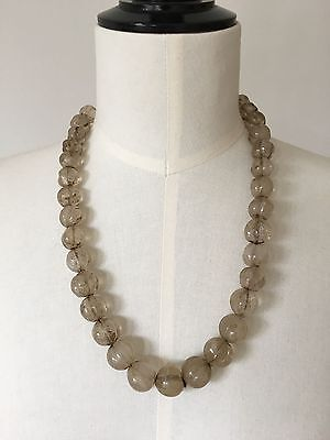 String Of Antique Rock Crystal Melon Beads Origin Nepal