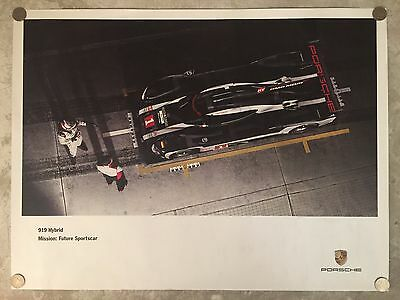 2016 Porsche 919 Le Mans Hybrid Showroom Advertising Poster RARE!! Awesome L@@K