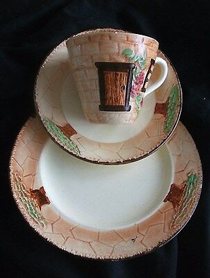 BURLINGTON WARE Cottage Pattern TEA SET Trio Made In England SHAW Longton..1959